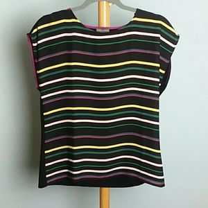 Vince Camuto Striped Top/ xs